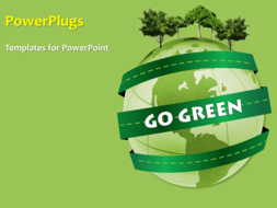 PowerPoint Template - Green background